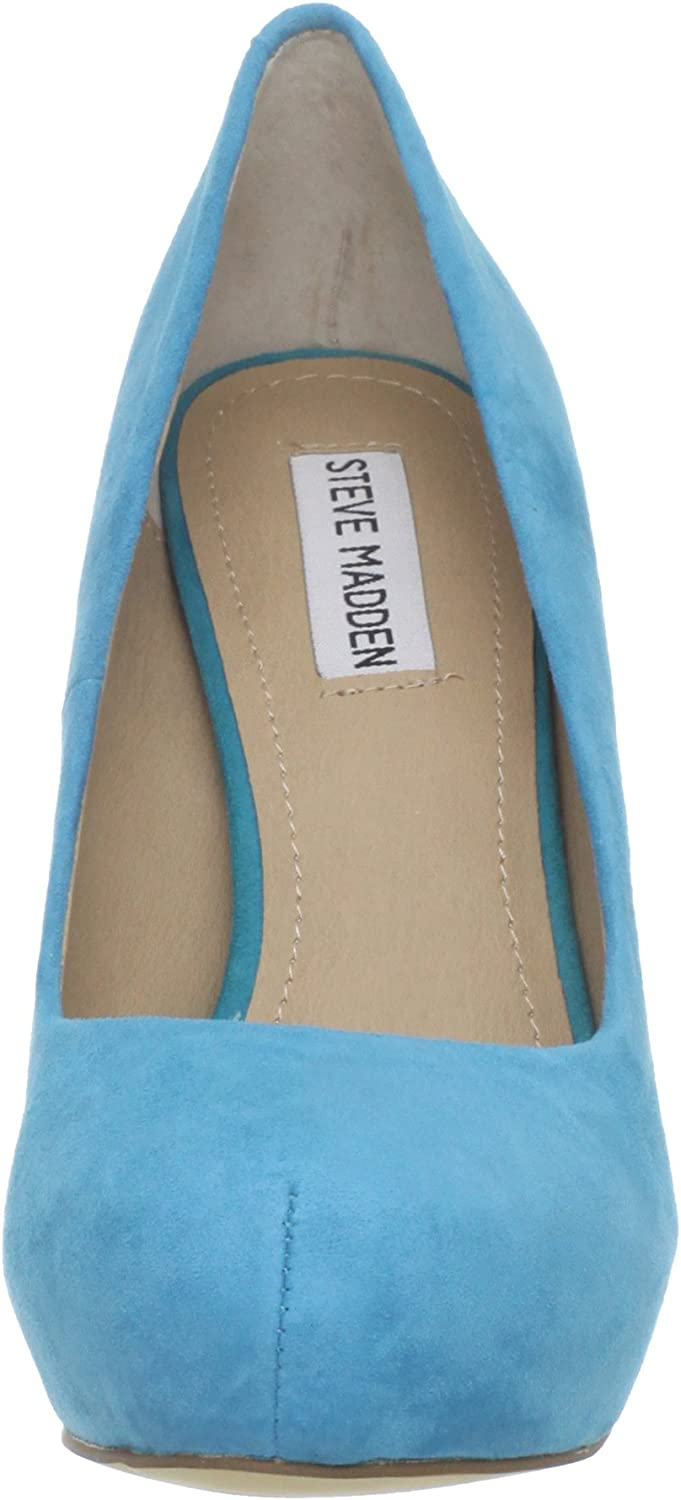 Steve Madden DAISIE Ladies Womens Smooth Suede Leather Smart Court Shoes Blue