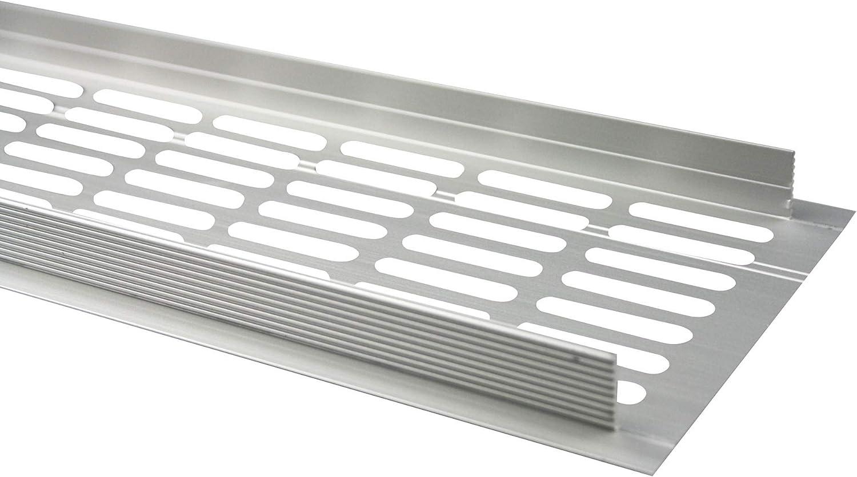 Silber eloxiert - F1 MS Beschl/äge /® Aluminium L/üftungsgitter Stegblech Heizungsdeckel 100mm x 200mm verschiedene Farben