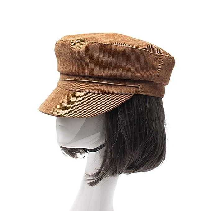 Amazon.com: FUZE Women Retro Captain Caps Newsboy Caps Gorra Mujer Woman Cap Hat Flatcap Camel: Clothing