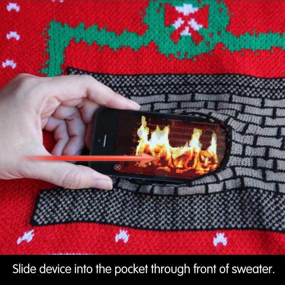 digital dudz crackling fireplace digital christmas sweater at