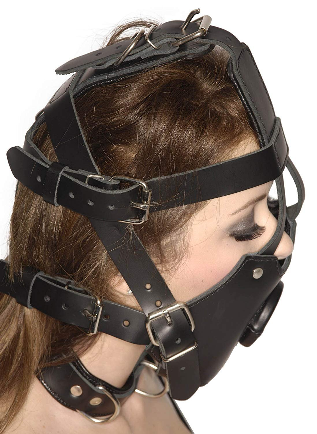 Strict Leather Premium Muzzle with Open Mouth Gag by Strict Leather (Image #3)