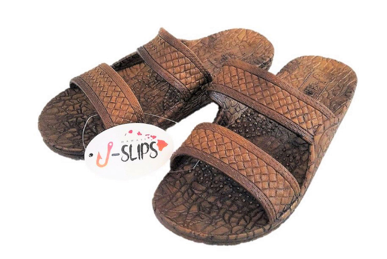 J-Slips Hawaiian Jesus Sandals/Jandals in 4 Cool Colors Unisex (8 Women/7 Men, Coconut)