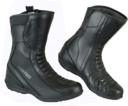 5 //EU 39 REXTEK Winter Mens Motorcycle Boots Rider Boots Black Waterproof Motorbike Leather Touring Shoes for Mens Boys