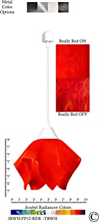 product image for Jezebel Radiance JRWH-FP12-RER-TRWH White Flame Track Light, Small, Fiery Red