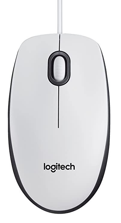 e1f190dcaf8 Logitech 910-005004 M100 USB Mouse for PC - White: Amazon.co.uk: Computers  & Accessories