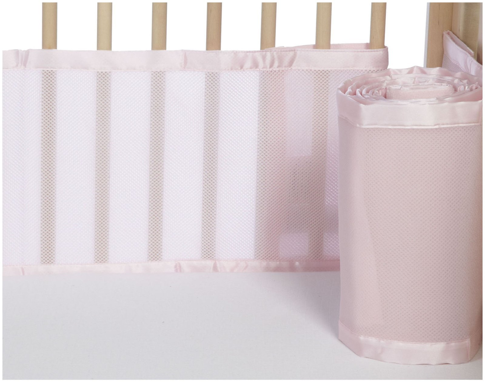 BreathableBaby Classic Breathable Mesh Crib Liner - Light Pink by BreathableBaby
