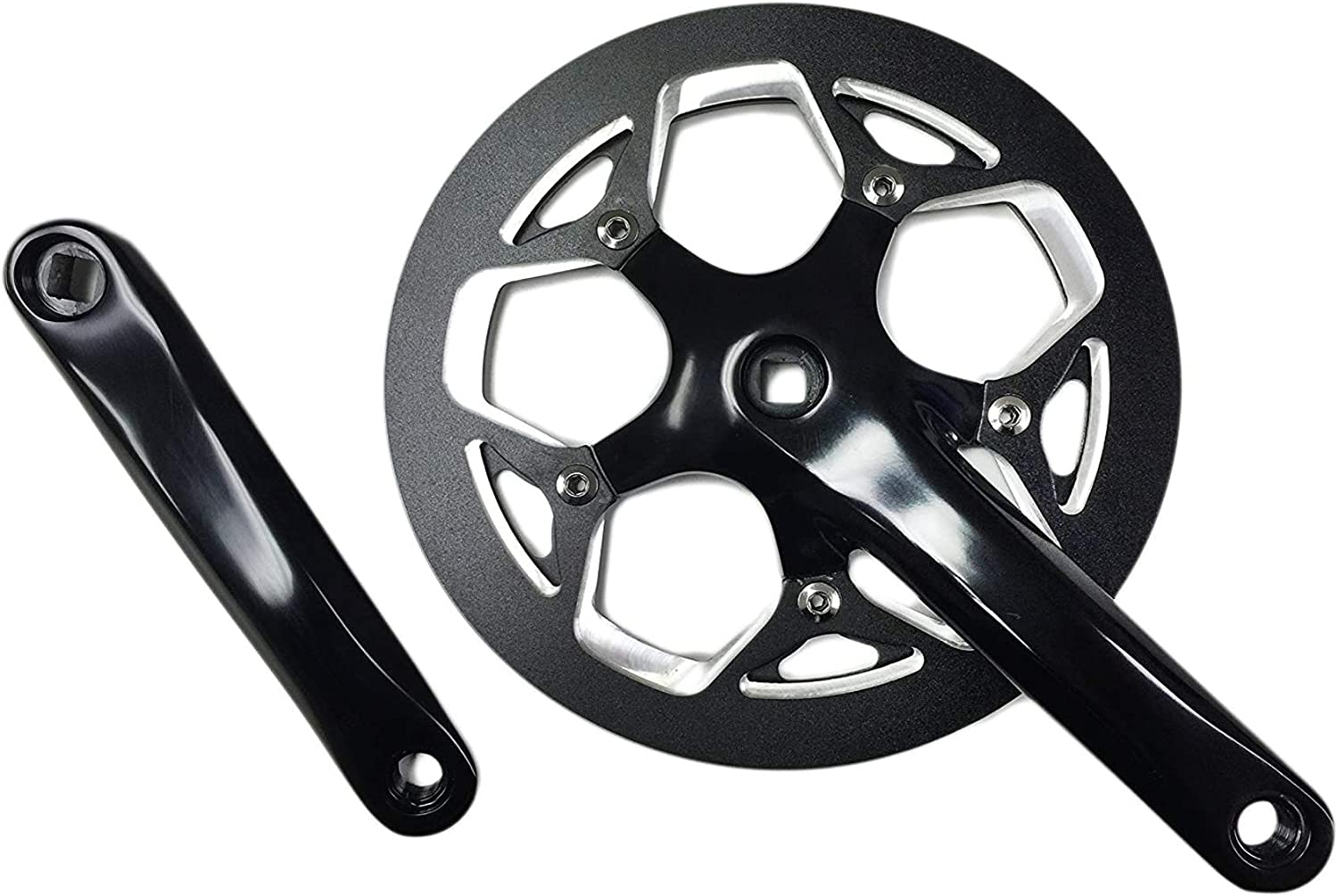 MOBIC Lasco 53T Forged Crankset 170mm Forged Arms CNC Aluminum Chain Guard Ebikes Bike