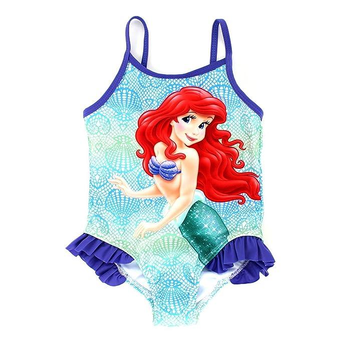 24b333145f Disney The Little Mermaid Ariel Girls Swimsuit Swimwear (2T, Seashell  Lavender)