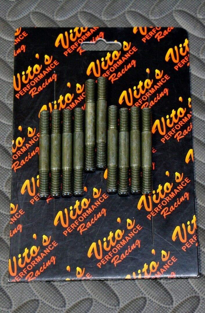 Vitos Head Stud Kit Yamaha Banshee Cylinder 10 Longer Studs Pro Design Cool Head by Vito''s Performance Products