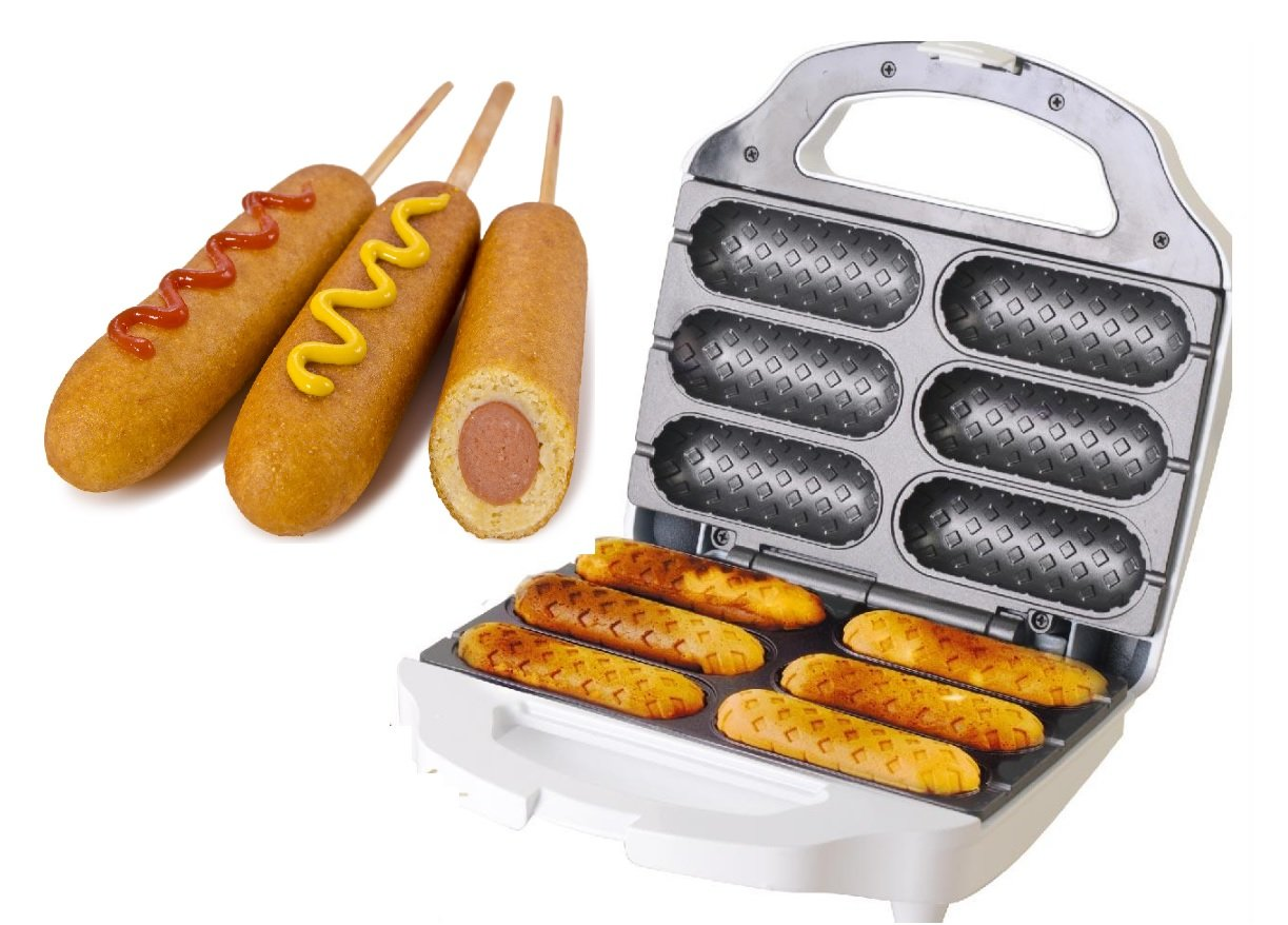 J-JATI Waffel Corn Hot Dog Presser Maker SW230-W6 Waffel Stick Maker