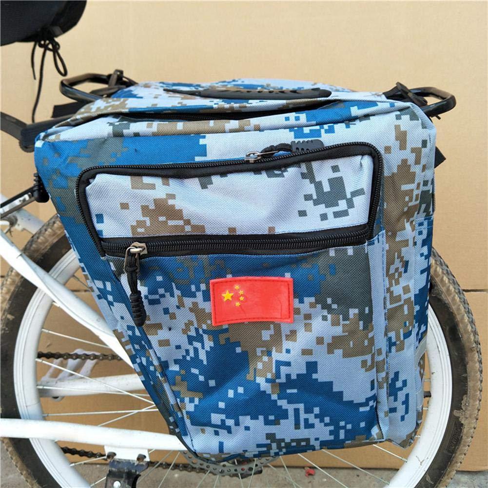 Enlarged Mountain Bike Camo Saddle Bag Multifunction Bicycle Rear Seat Trunk Bag