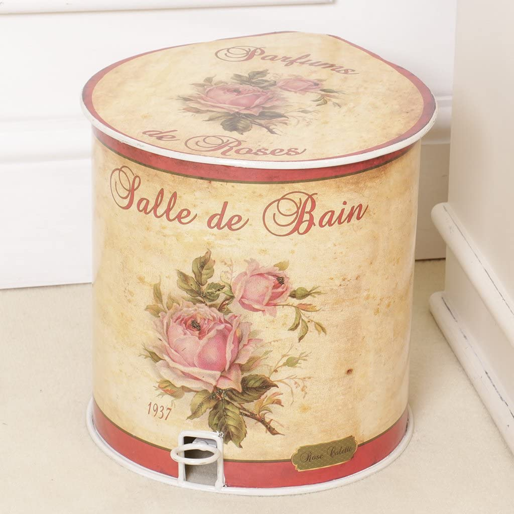 Dibor Francés Estilo Vintage Salle de Bains Cubo de Basura con
