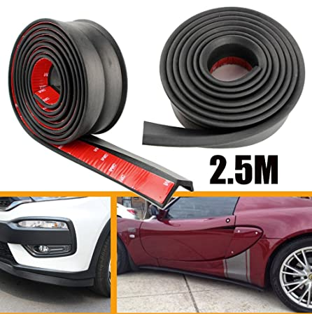 2.5m Carbon Fiber Car Front Bumper Spoiler Lip Splitter Valance ·Chin Protector