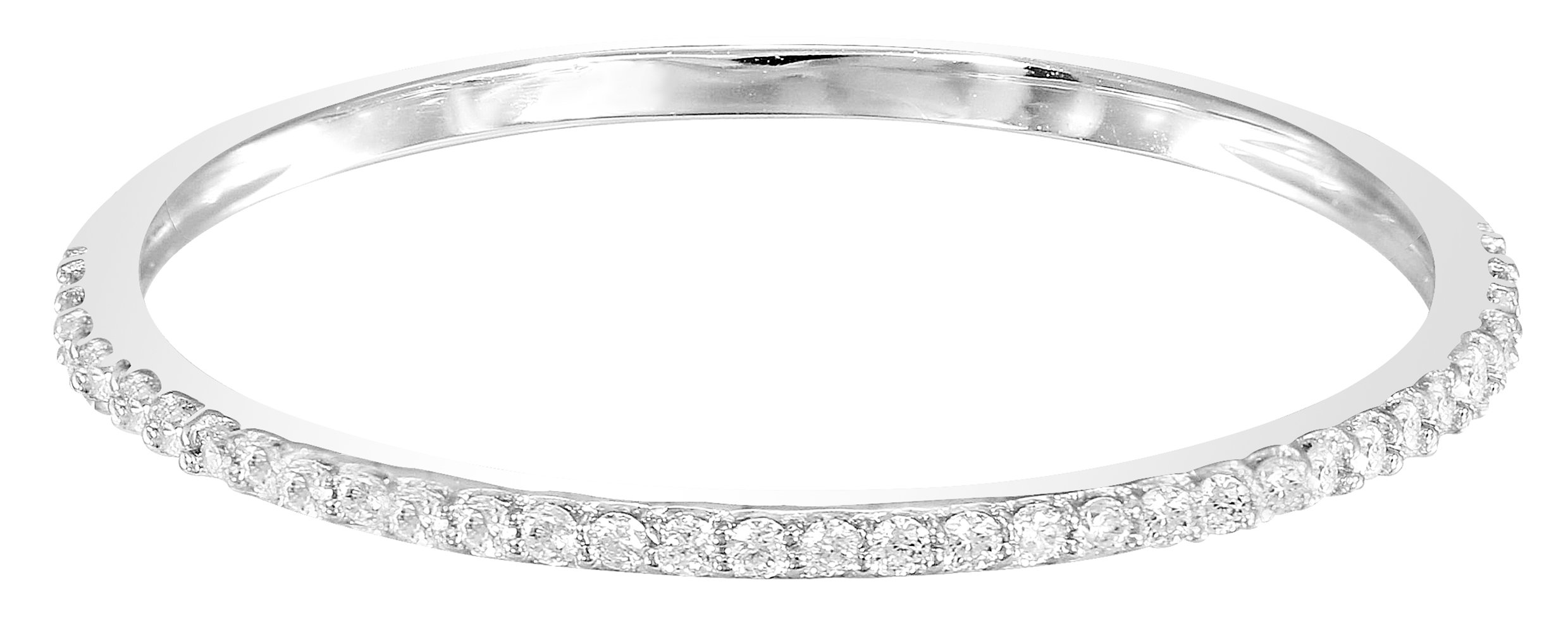 14k White Gold Dainty Half Band Natural Diamond Wedding Anniversary Ring (0.08 cttw, G-H Color) (Size 7)