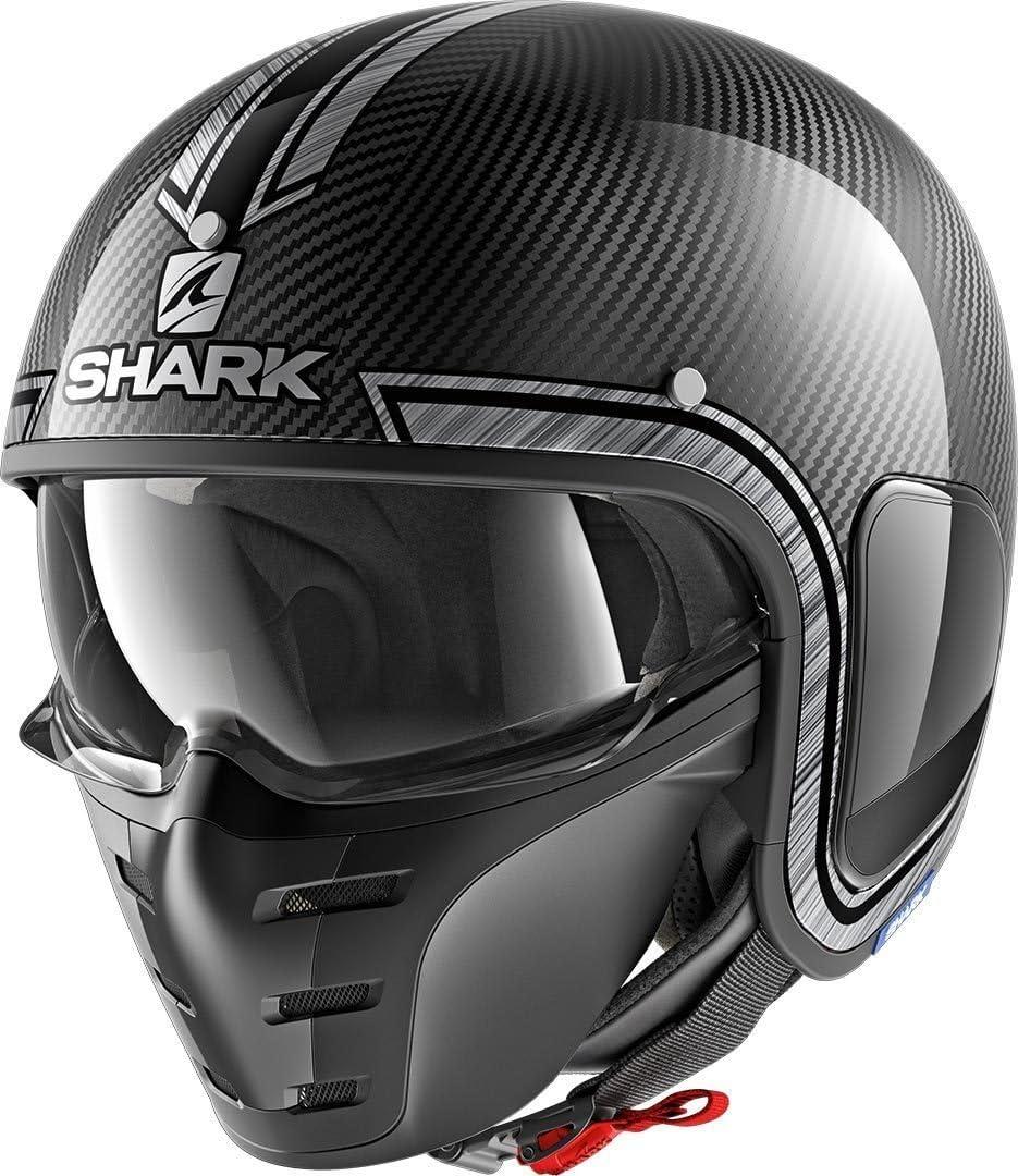 XS Noir//Gris Shark Casque moto S-DRAK CARBON VINTA DUS