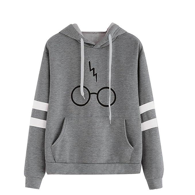 Mujer Sudaderas Con Capucha Manga Larga Varsity Gafas De Harry Potter Camisetas Encapuchado Tops Casual Sweatshirt
