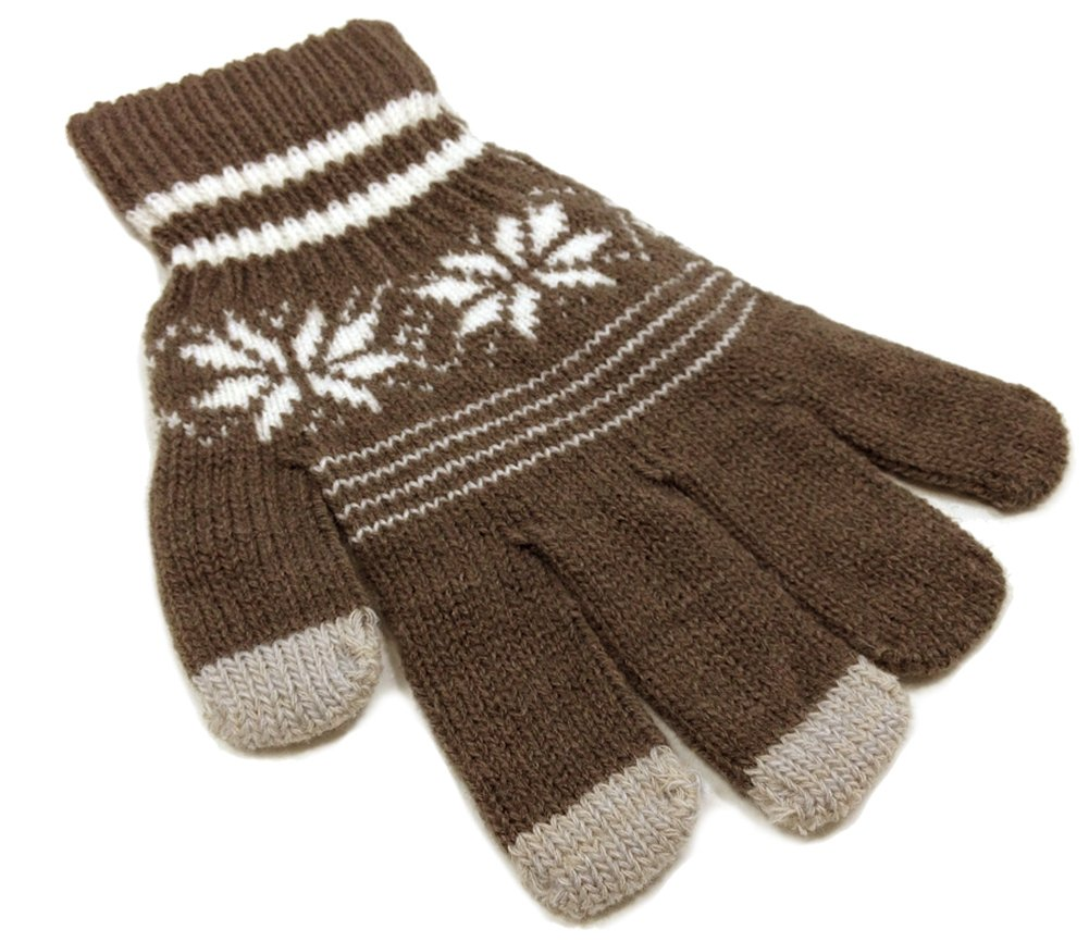iTouch Snowflake Touchscreen Gloves - One Size (Brown)