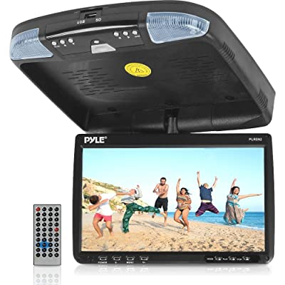 PYLE PLRD92 9-Inch Flip Down Monitor and DVD Player with Wireless FM Modulator/ IR Transmitter: Car Electronics