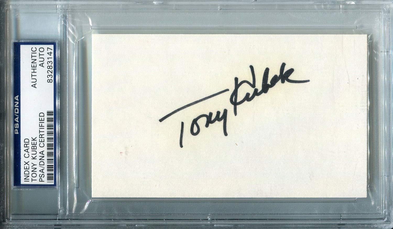 Tony Kubek Autographed 3x5 Card (PSA)