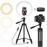 $49 » TONOR 12 inch Selfie Ring Light with Tripod Stand, Smartphone Holder, Bluetooth Remote Shutter…