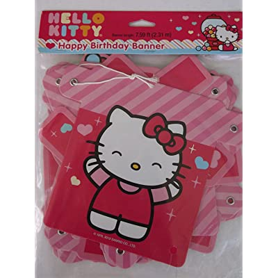 Designware Hello Kitty 'Sweet Gumdrop' Happy Birthday Banner (1ct): Toys & Games