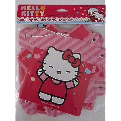 Designware Hello Kitty \'Sweet Gumdrop\' Happy Birthday Banner (1ct): Toys & Games [5Bkhe0502811]