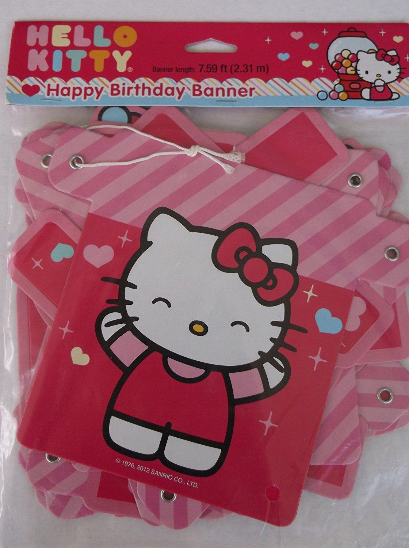 Designware Hello Kitty 'Sweet Gumdrop' Happy Birthday Banner (1ct)