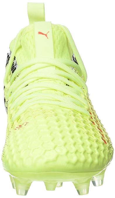 f13a734c8 Amazon.com : Puma Men Soccer Shoes Future 18.2 Netfit FG/AG Football yellow 104321  01 : Shoes