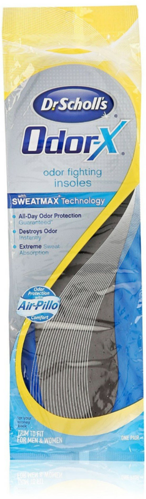 Dr. Scholl's Odor-X, Odor Fighting Insoles, Trim to Fit 1 pair (Pack of 5)