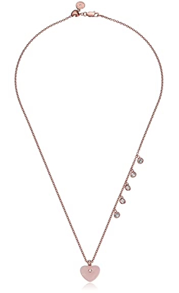 in kors necklacegoldtone pendant metallic gold necklace lyst heritage jewelry goldtone michael double logo ring pave