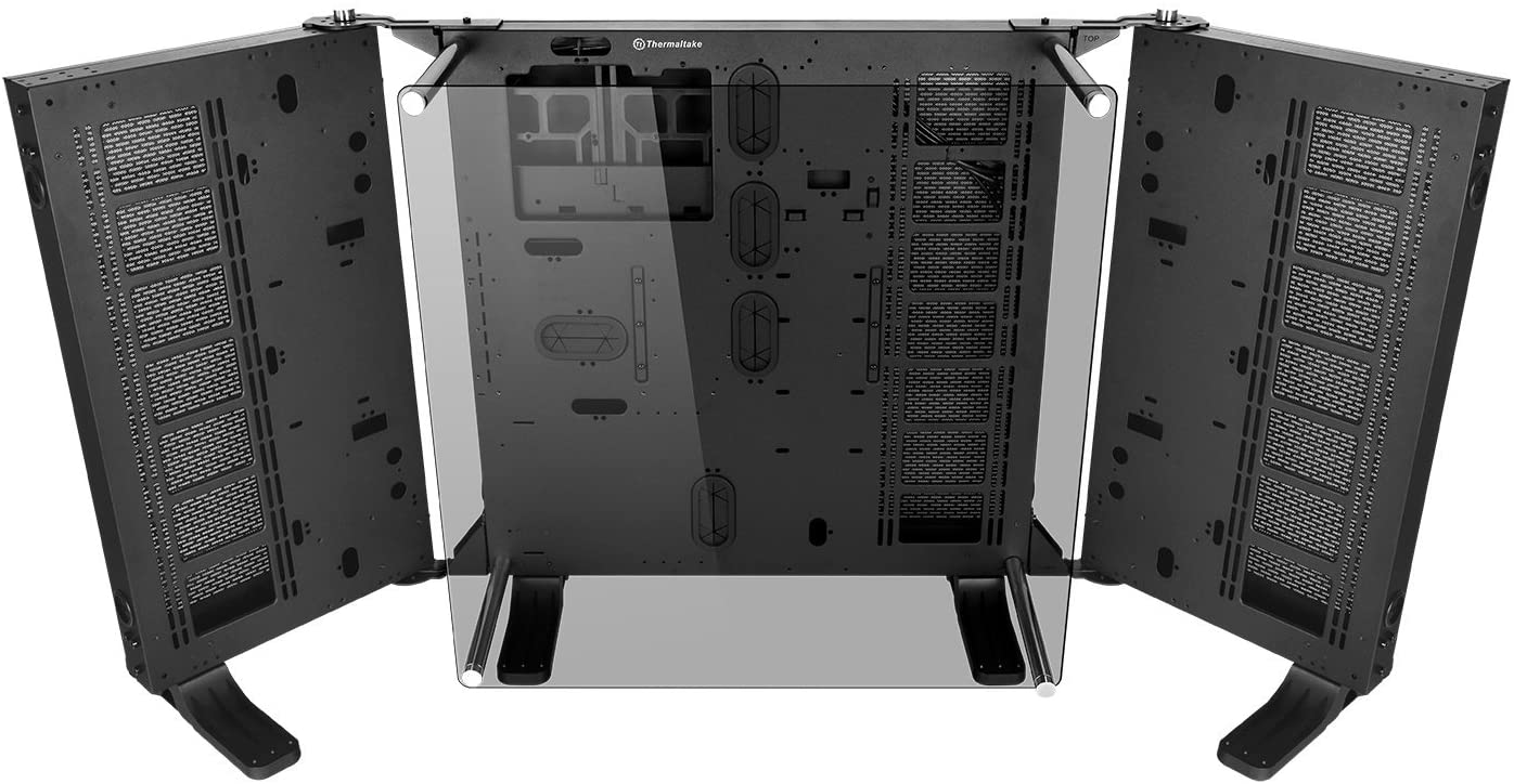 Thermaltake Core P7 Tempered Glass Edition E-ATX Open Frame Panoramic Viewing Tt LCS Certified Gaming Computer Chassis CA-1I2-00F1WN-00,Black
