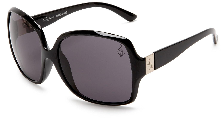 Amazon.com: baby phat Women\'s 2045 Rectangular Sunglasses,Black ...