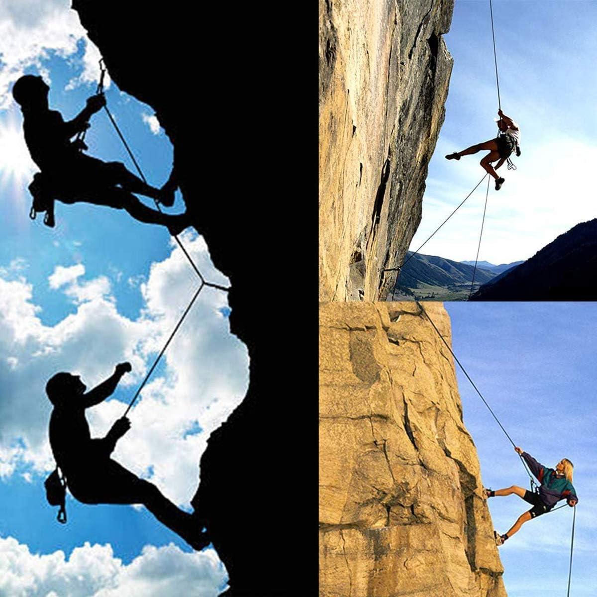 HEWEI Cuerda de escalada estática al aire libre Rappelling ...