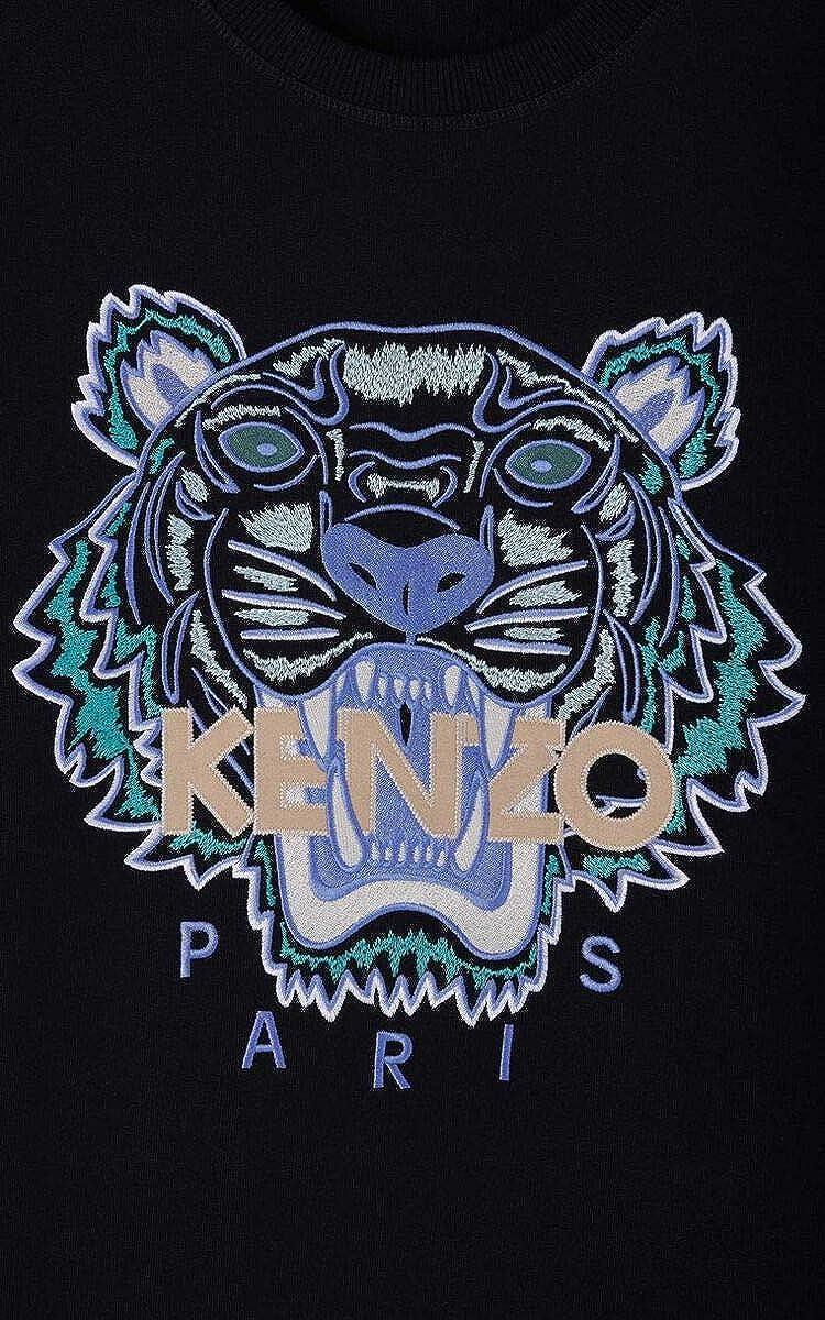 Felpa Tiger da uomo 100/% cotone Kenzo colore: Nero