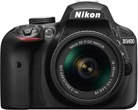 Nikon D3400 24.2 MP Digital SLR Camera  Black  + AF P DX Nikkor 18 55mm f/3.5 5.6G VR Lens Kit + 16 GB Card + Camera Bag Digital SLR Cameras