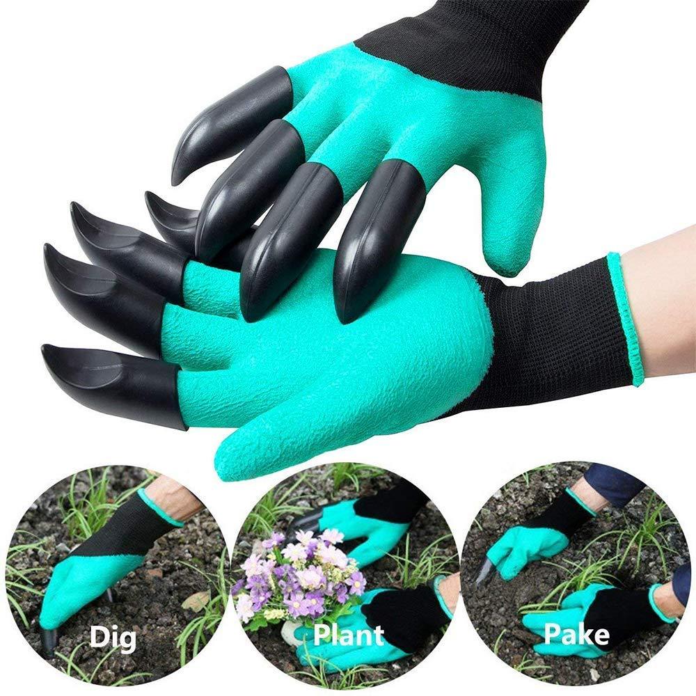 1 par Guantes de jardiner/ía con Garras para cavar Plantas LANGING