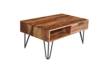 G Fine Furniture Sheesham Wood And Iron Coffee Center Table For