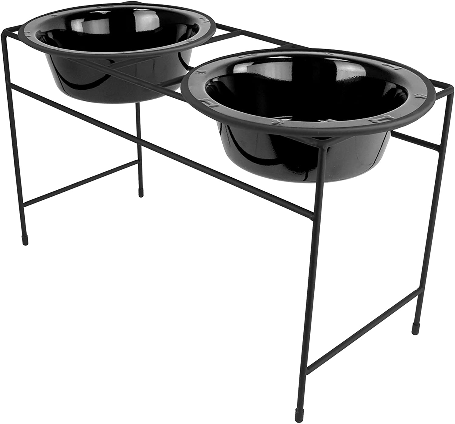 Platinum Pets Double Diner Feeder with Stainless Steel Dog Bowls