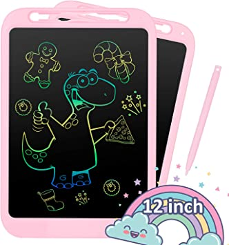KOKODI LCD Writing Tablet Blue Erasable Reusable Electronic Drawing Pads Educational and Learning Toy for 2-6 Years Old Boy and Girls 10 Inch Toddler Doodle Board Drawing Tablet