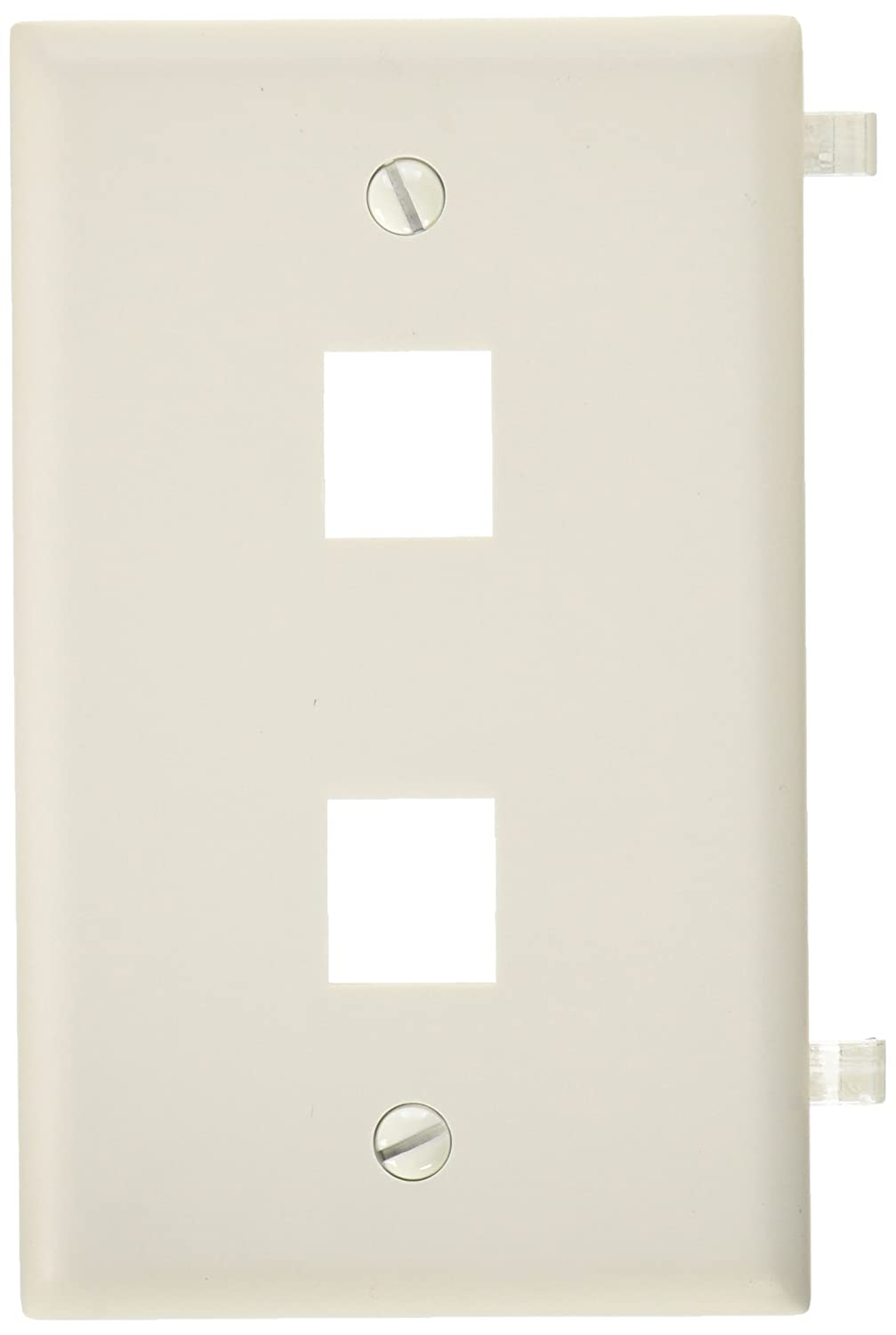 White Morris Products 6 Ports Morris 88170 DataComm Wall Plate for Keystone Jacks and Modular Inserts