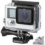 Deyard Custodia impermeabile con Quick Monte uscita e testa zigrinata per GoPro HERO 4/3 + Azione Videocamera.