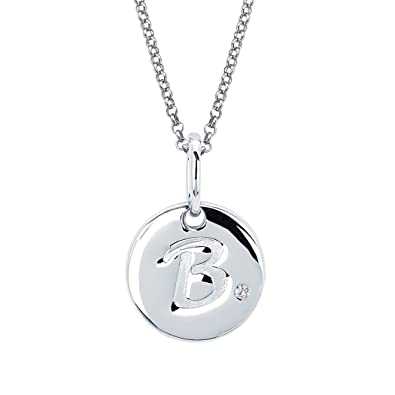 Amazon little diva diamonds girls sterling silver diamond little diva diamonds girls sterling silver diamond accent disc initial pendant necklace aloadofball Image collections