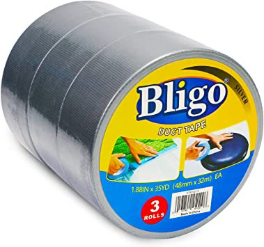 """Duck All-Purpose Duct Tape 1.88/"""" x 10 Yards 1 ea Pack of 3"""