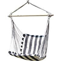 INNO STAGE Wooden Hammock Chair - Hanging Rope Swing Cotton Weave for Kids Comfort & Durability - Brazilian Hanging…