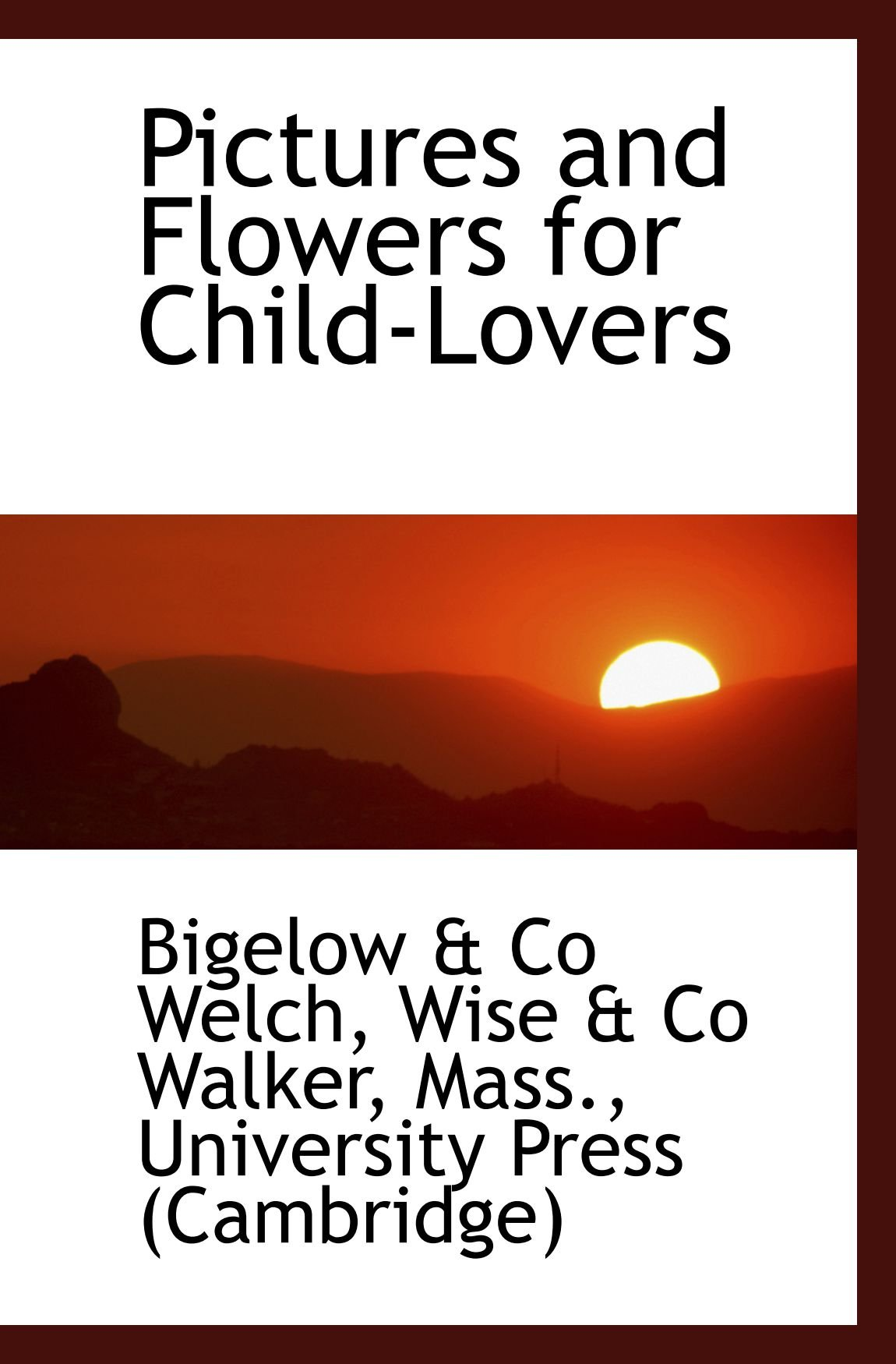 Pictures and Flowers for Child-Lovers PDF
