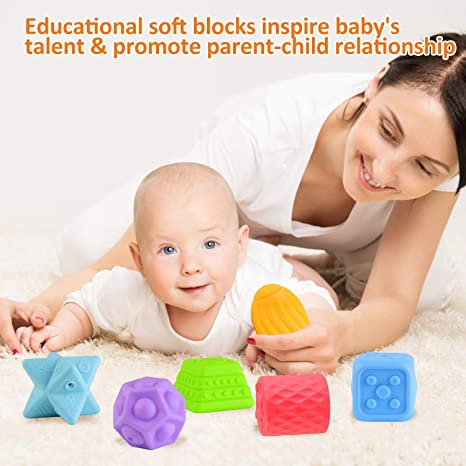EKKONG Baby Sensorisches Spielzeug ab 0 3 6 12 Monate, 6PCS