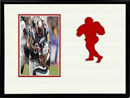 Amazon.com : Football Sports League Red Team Photo Black Frame 8x10 ...
