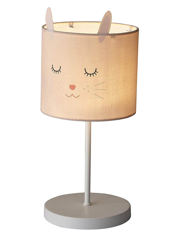 Vertbaudet Nachttischlampe f/ür Kinderzimmer Hase rosa ONE Size
