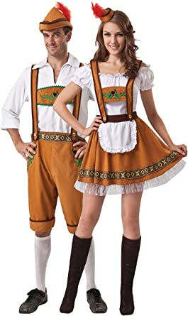 GERMAN BEER MENS BAVARIAN LEDERHOSEN OKTOBERFEST FESTIVAL FANCY DRESS