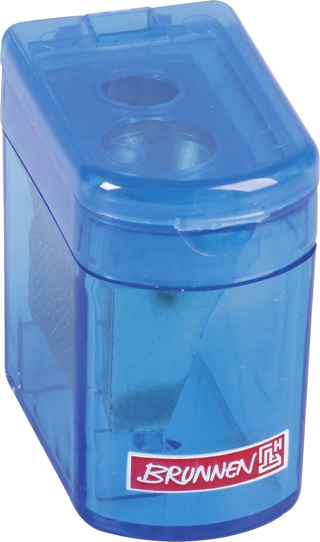 Brunnen 102983890 Dosenspitzer Klicki Colour Code (4 x 2,5 x 3,7 cm, mit Staubverschluss, Doppelspitzer) schwarz / onyx Baier & Schneider